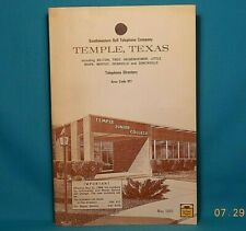 1968 TEMPLE TEXAS Southwestern Bell Telephone Directory with Yellow Pages