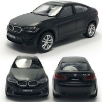 1:43 Scale BMW X6 M SUV Model Car Diecast Gift Toy Vehicle Pull Back Kids Black
