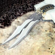 "2 Pc Large Full Tang 19"" Ninja Samurai Twin Knife Blade Sword Machete Katana"