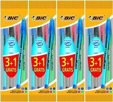 Pack 12 BIC Cristal GEL Ballpoint Pens BLACK, BLUE, GREEN, RED Medium