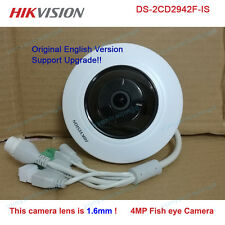 Hikvision Original english DS-2CD2942F-IS 4MP Fisheye POE IP PTZ 1.6mm camera