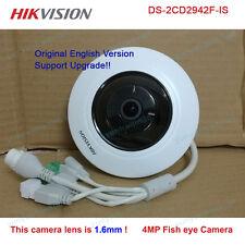 Hikvision Original english DS-2CD2942F-IS 4MP Fisheye POE IP PTZ 1.6mm camera