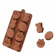 8 Easter Egg Rabbit Flower Basket Mold Silicone Jelly Baking Chocolate Moulds