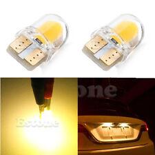 2x Warm White T10 194 168 W5W 1W 8 SMD COB Super Bright SILICA LED Light Bulb