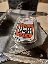 Simpsons Duff Beer Silver Proof Duff. 1oz .999 Perth Mint