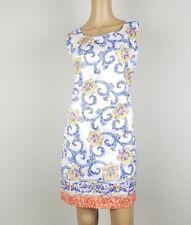NWT John Fashion Sleeveless Front Print Dress Medium