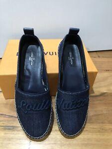 Authentic!*Louis Vuitton Waterfall Espadrilles*Navy*Size 36.5*BNIB
