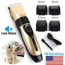 Pet Dog Cat Grooming Clippers Hair Trimmer Groomer Shaver Razor Quiet Clipper Us