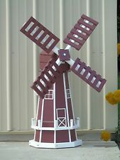 "46"" Octagon Poly Dutch Windmill (Cherry with WhiteTrim)"