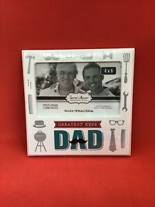 Greatest Ever Dad - 4x6 Photo Frame - Special Moments Memories Collection