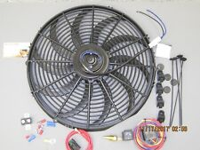 """High 3000 CFM 12v Electric HDCurved S Blade 16"""" Cooling Fan + HD Fan Relay Kit"""