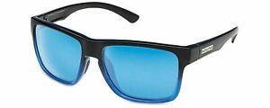 Authentic Suncloud Rambler Polarized Sunglasses Gloss Blk/ Polarized Blue- New