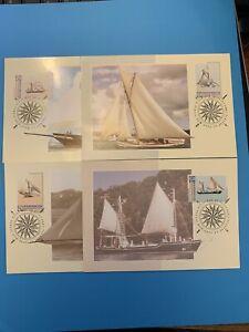1992 - AUSTRALIA DAY (SAILING VESSELS)  -  4v Maxi Card set (15/1/92)