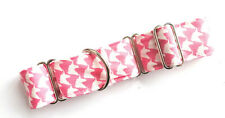 "1.5"" Martingale Dog Collar PINK UNICORN HEAD WHIPPET 10""-15"" SMALL"