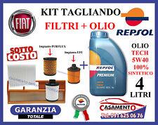 KIT TAGLIANDO FILTRI + OLIO REPSOL 5W40 LANCIA Y YPSILON 1.3 MULTIJET 2003-2011