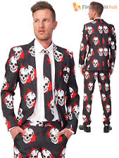 Adult Mens Suitmeister Bloody Skulls Halloween Suit Fancy Dress Costume Outfit UK Size 44