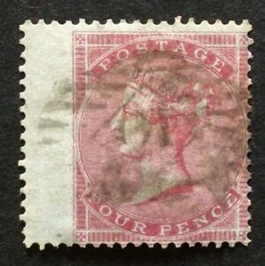 GB Queen Victoria Surface Printed 1855 4d carmine small garter used SG 62a
