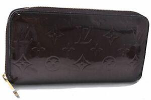 Auth Louis Vuitton Vernis Zippy Wallet Purse Long Wallet Brown M93522 LV D6160