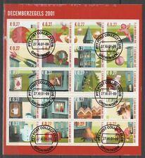 Nederland NVPH 2014-33 Vel Decemberzegels 2001 Gestempeld Groningen