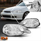 For 99-00 Honda Civic EJ/EM/EK Chrome Housing Headlight Clear Corner Signal Lamp