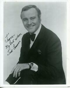 Jack Lemmon Autograph Actor Some Like It Hot The Odd Couple Signed Photo