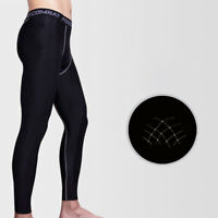Men Compression Thermal Base Layer Tights Bottom Long Pants Gym Activewear S-3XL