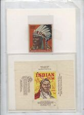 Indian  gum card  wrapper plus  type trading card Goudy gum