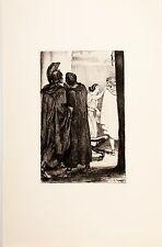 Arthur Kampf /Radierung aus der Mappe/Shakespeare /Troilus und Cresside