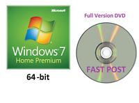 Windows 7 Home Premium 64-Bit Bootable Installation DVD Full Version SP1 Disc CD