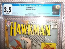 HAWKMAN #4 CGC 3.5 1964 WHITE PAGES ORIGIN AND FIRST APPEARANCE OF ZATANNA