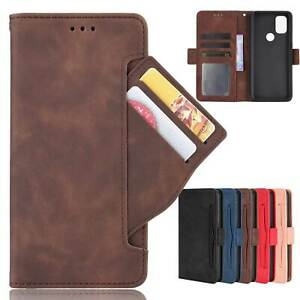 For OnePlus/Google/Sony Luxury Card Slots Flip Leather Wallet Stand Case Cover