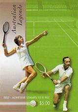 2003 AUSTRALIAN TENNIS LEGENDS STAMP BOOKLET 10 x 50c STAMPS MUH