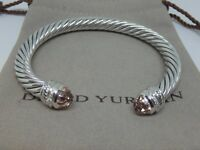 David Yurman 7mm Cable Classic Crossover Bracelet with Morgan and Diamonds Med.