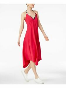 CYNTHIA ROWLEY Womens Pink Sleeveless Halter Shift Dress M