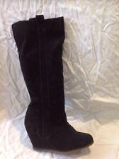 Zara trf Black Knee High Suede Boots Size 37