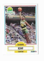 1990 Fleer Shawn Kemp Rookie Card RC #178 Seattle Supersonics EX/NM