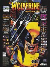 Original Marvel WOLVERINE Adamantium Rage Sega Nintendo video game print ad page