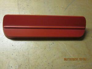 1962-63 Ford Fairlane  Radio Delete Plate Red