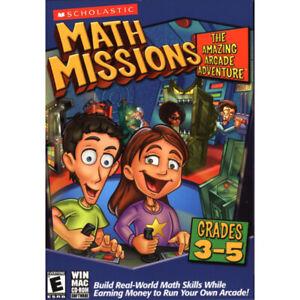 Scholastic 04767 Math Missions: The Amazing Arcade Adventure Card Game Grades