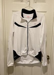 Pearl Izumi Elite Series Cycling Jacket Women's XL White Black Silver Reflectors