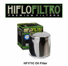 HiFlo HF171C Buell S1 Lightening FLHR Road King Harley Custom Chrome Oil Filter