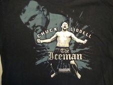 MMA Mixed Martial Arts Chuck Liddell The Iceman Fighter Fan Blue T Shirt Size L
