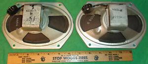 (2) 7X5 Inch Oval Speakers from 1948 RCA TV's Best Mfg. Co 92573-4B (3 Ohm) W@W!