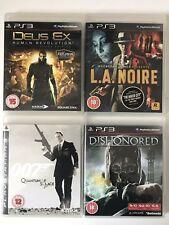 PS3 Game Bundle-Dishonored+Deus Ex+007 Quantum Of Solace+L.A.Noire (808)