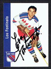 Lou Fontinato #93 signed autograph 1994 Parkhurst Missing Link 1956-57 Card