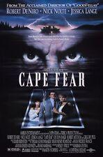 Cape Fear movie poster - Robert De Niro poster, Jessica Lange, Nick Nolte