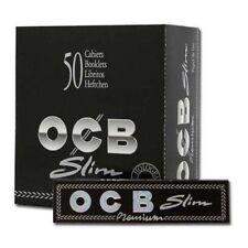 OCB Slim Premium5boitebox de 50 carnet  de feuilles à rouler 50 briquet offert