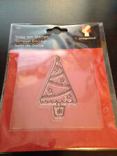 Imaginisce Santas Helper Christmas Tree Clear Stamp!