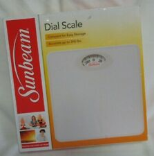 Sunbeam Full View Dial Scale SAB700, New, White Accurate to 300 lbs