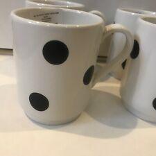 "Kate Spade by Lenox All in Good Taste ""Deco Dot"" Coffee Mugs Set/4 NIB Tea Cups"